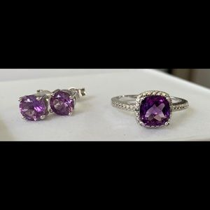 Amethyst Ring & Earrings